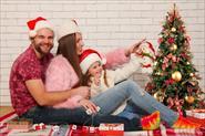 выездная новогодняя семейная фотосессия