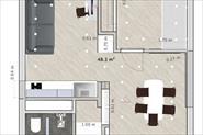3D проект однокомнатной квартиры для многодетной семьи