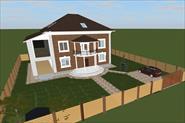 3d проект 2-ух этажного дома с мансардой