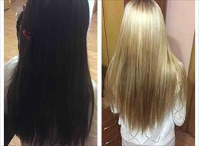 Из черного в блонд