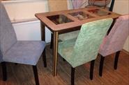 Перетяжка 4 стульев (сидушка + спинка)
