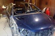 Перевёрнутый Peugeot 206