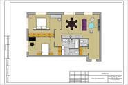 Дизайн интерьера квартиры для 3-х человек