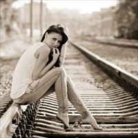 Фотосессия на железной дороге