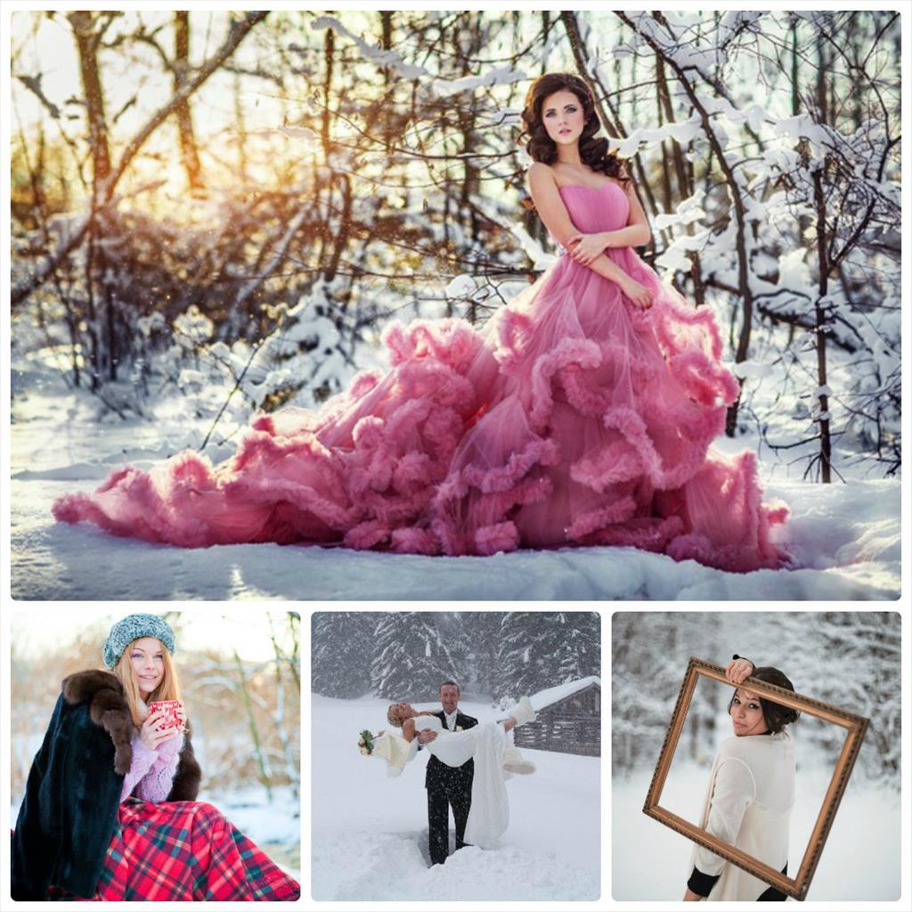 фотосессия зимой на улице идеи