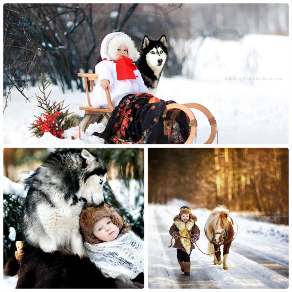 фотосессия с ребенком зимой на улице