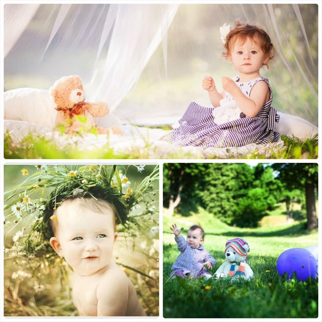 фотосессия малышей на природе
