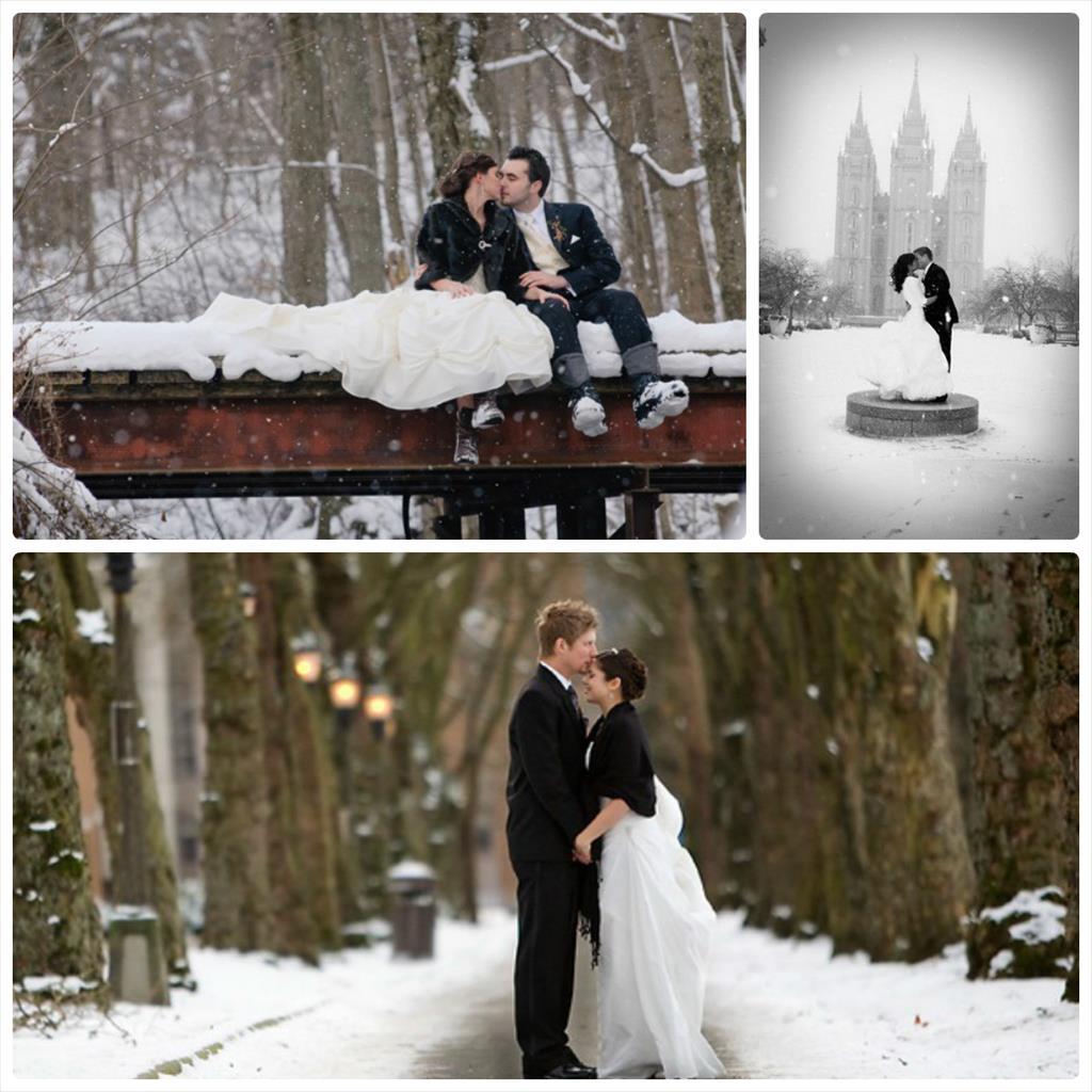 свадебные фотографии зимой идеи